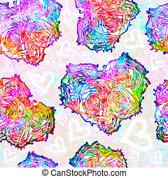 Seamless pattern on Valentine's Day. Hearts. EPS10