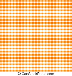 Seamless Pattern, Orange Gingham