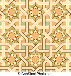 Oriental mosaic seamless pattern. Vector.