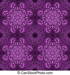 Seamless pattern. Ornate flowers henna colors vector mandala in indian style.