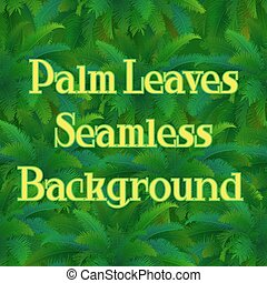 Seamless Pattern, Palm Leaves