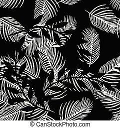 Seamless pattern palm