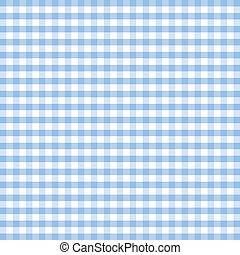 Seamless pattern gingham check background in pastel blue and white. EPS8 file includes pattern swatch that will seamlessly fill any shape. For arts, crafts, fabrics, tablecloths, decorating, scrapbooks.