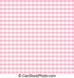 Seamless pattern gingham check background in pastel pink and white. EPS8 file includes pattern swatch that will seamlessly fill any shape. For arts, crafts, fabrics, tablecloths, decorating, scrapbooks.