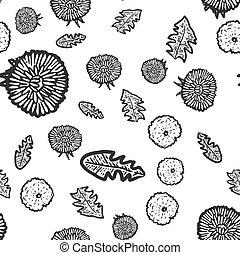 Seamless pattern, plant Taraxacum. Sketch scratch board imitation.