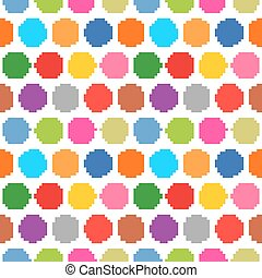 Seamless pattern polka dots on a white background