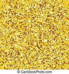 Seamless pattern real gold glitter