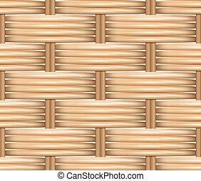Seamless pattern realistic texture of woven rattan.