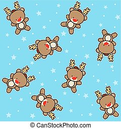 seamless pattern reindeer christmas