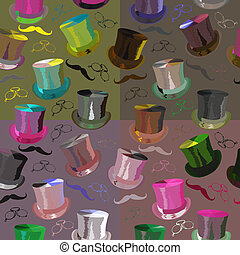 seamless pattern  retro style