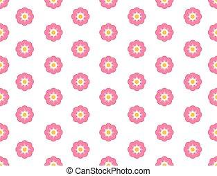 Seamless pattern sakura flower on white background - Vector illustration