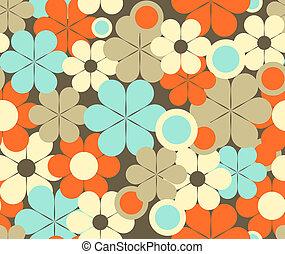 Seamless pattern - Seamless floral retro pattern