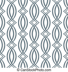 Seamless symmetric pattern retro style