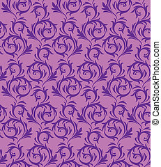 Seamless violet pattern on a lilac background. In vintage style.