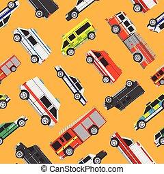 Seamless pattern service cars