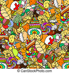 confectionery - Seamless pattern. Set of confectionery. art...