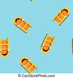 seamless pattern ship floating in the ocean, vector illustration