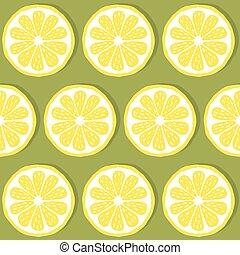 seamless pattern slices of lemon