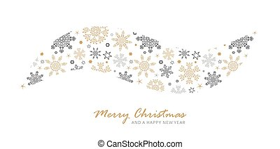 seamless pattern snowflakes and stars border isolated on white background