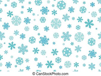 Seamless pattern. Snowflakes, Christmas background. Vector illustration