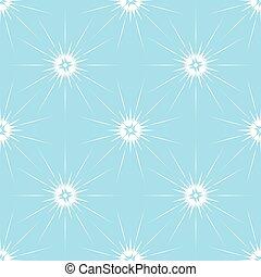 Seamless pattern snowflakes. White elements on blue background