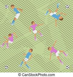 Seamless pattern soccer match