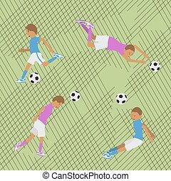 Seamless pattern soccer