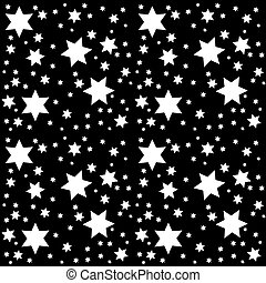Seamless Pattern Space. Starry Sky. Vector Illustration.
