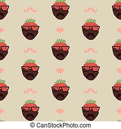 seamless pattern strawberry