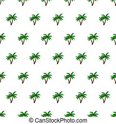 Seamless pattern summer beach palm tree background with template in swatches for your convenience. Easy to use.