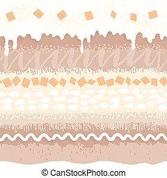 Seamless pattern sweet dessert with cream