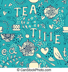 Seamless pattern - Tea Time