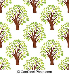 Seamless pattern texture background with trees