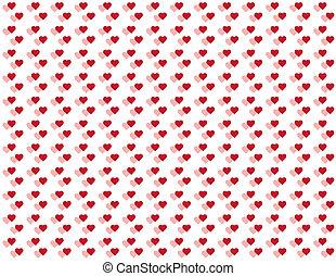 Seamless Pattern, Tiny Hearts