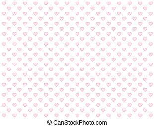 Seamless Pattern, Tiny Pink Hearts - Seamless abstract...