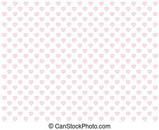 Seamless Pattern, Tiny Pink Hearts
