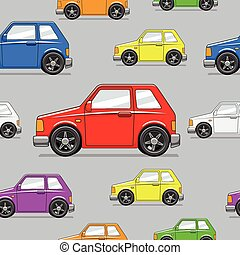 Seamless pattern toy car vector illustration