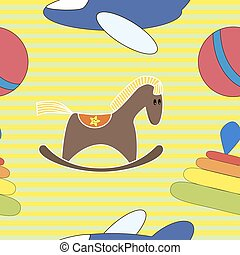 Seamless pattern toys
