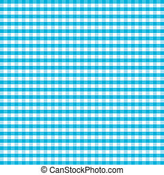 Seamless Pattern, Turquoise Gingham - Seamless pattern...