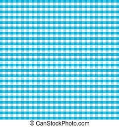 Seamless Pattern, Turquoise Gingham - Seamless pattern...