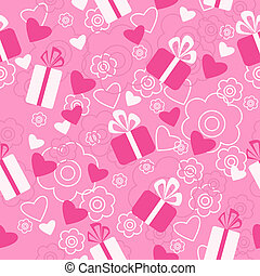 Seamless pattern Valentine's Day