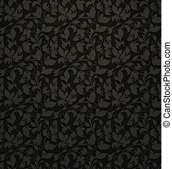 Seamless pattern vector, black