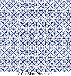 Seamless pattern vector blue backgr