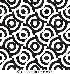 seamless pattern (vector) - seamless monochrome pattern,...