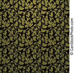 Seamless pattern vector, green