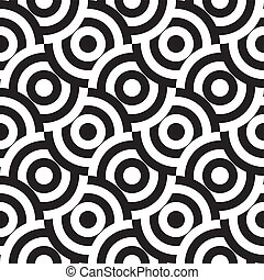 seamless pattern (vector) - seamless monochrome pattern, ...
