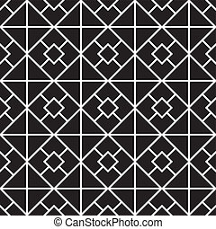 seamless pattern (vector) - seamless monochrome pattern,...