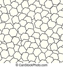 seamless pattern vector with abstract black shapes
