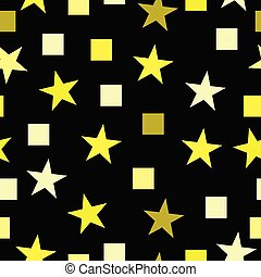 seamless pattern vector with yellow stars and squares