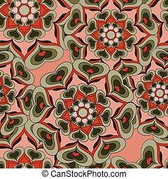 Seamless pattern. Vintage elements vector illustration